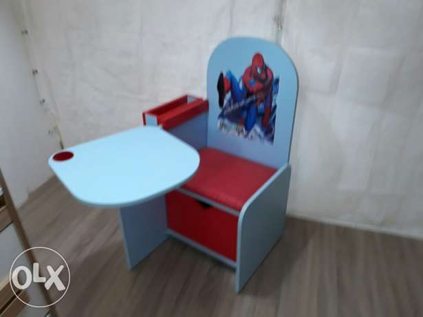 Spiderman chair for kids with wood