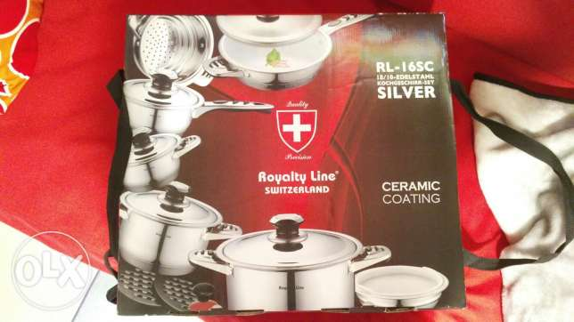 Stainless steel Cooking set (made in swizerland)