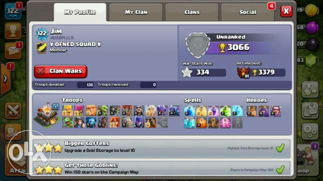 Clash of clans th11 for sale