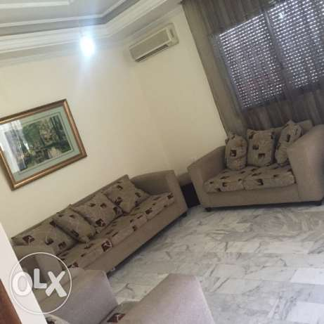 144sqm furnished apartment for rent in adonis with mountain view
