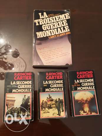 4 vintage books world war theme published between 60's and 80's rare