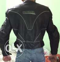 motorcycle leather jacket with protection