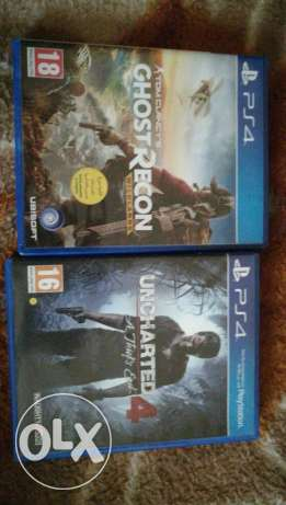 Uncharted 4 and ghost recon for sale or trade both arabic like new