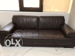 new leather couch