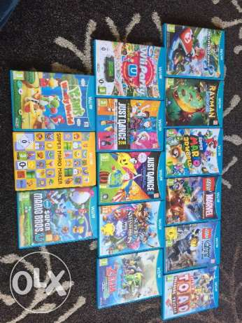 6 wii U games one at 15$