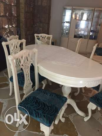 dining table with konsol