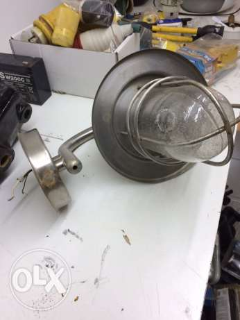 pair of deck decorative lamps stainlesd steel
