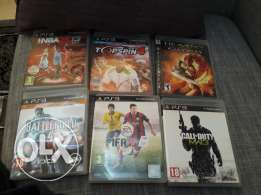 Ps3 console + 6 games+ 2 joysticks
