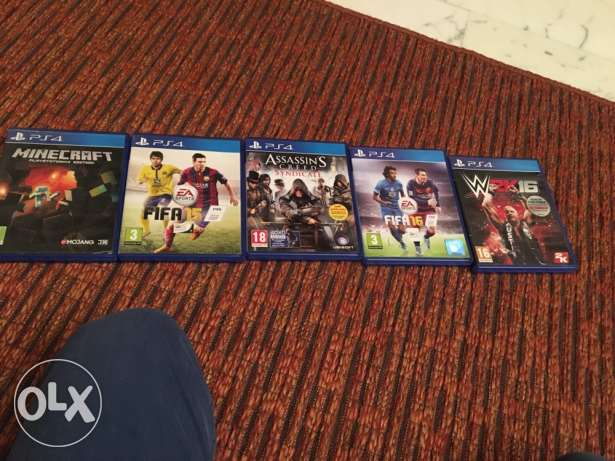ps4 games 4 games used 2-3 times