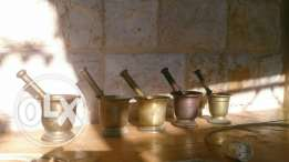 هاون نحاس وبرونز عدد 5 bronze copper mortar