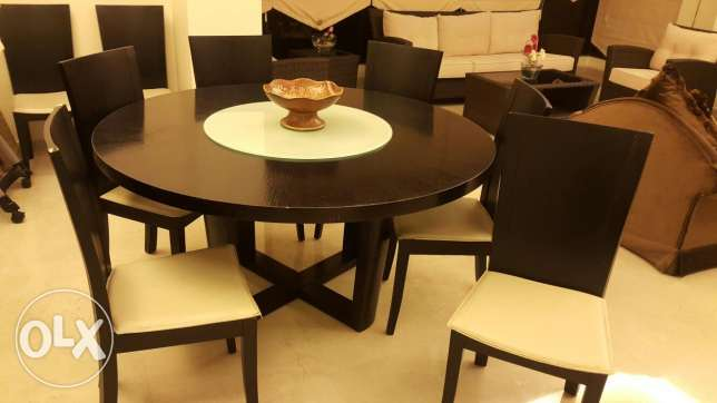 dining table with vitrine