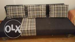 Single bed (with medical pillow)with sofa bed very good condition