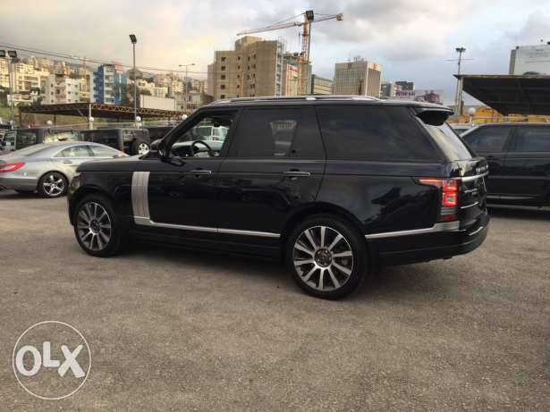 Range rover Vogue supercharged SE 2014 night blue on blue, GERMAN !!! انطلياس -  4