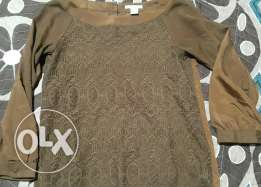 Brown top size 4