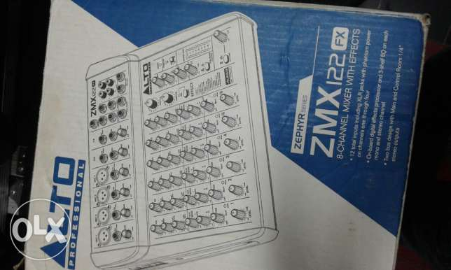Alto zmx mixer with 16 effects