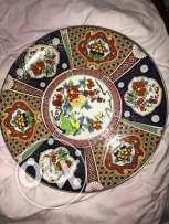 Japanese vintage Gold Imari Hand Painted Large Charger plate