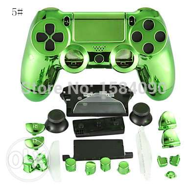 ps4 chrome hard full cover set for ps4 controller
