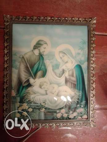 vintage copper frame + religious photo 30*40cm
