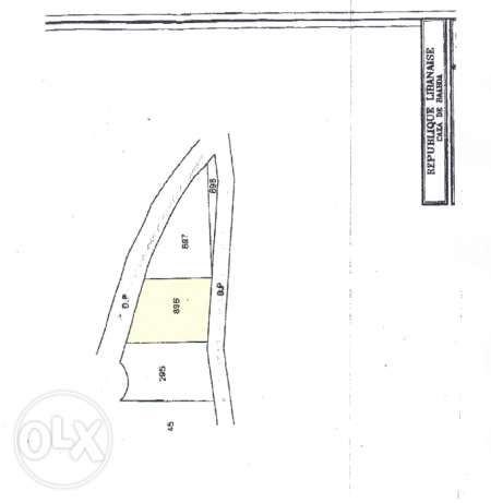 Land For sale in Deir El Harf near Falougha - Main Road - with view
