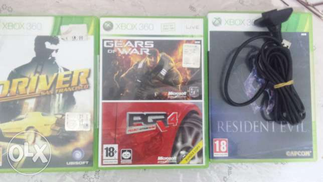 Cds and charge cable xbox360