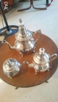 Antique and Very old Teapot set made by silver. فضه فضة انتيك