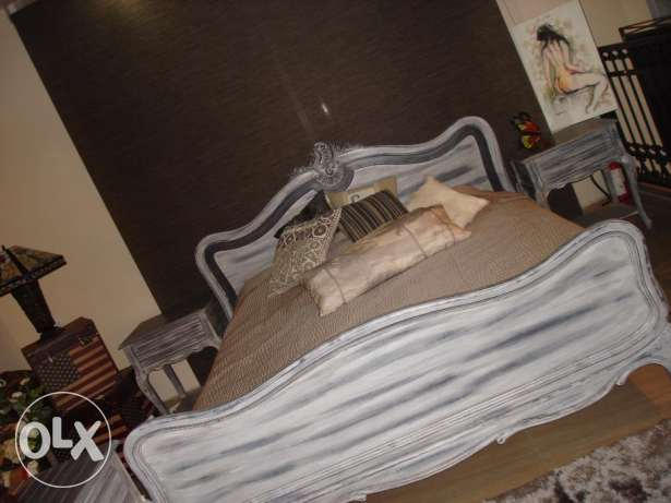 new bed & two night tables for sale