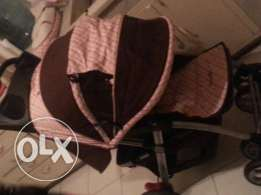 Used 1 month. Almost new.high quality stroller +carseat