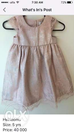 Heirlooms dress, size: 5years