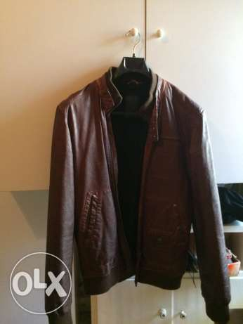 Leather brown jacket (medium Size) bought from Zara