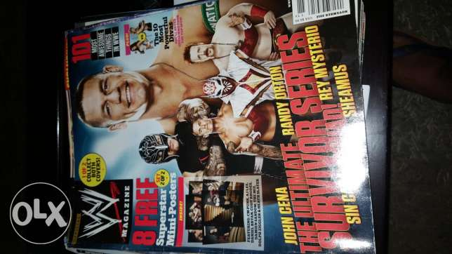 36 WWE Magazines for sale (Original Price 7$/ Magazine)