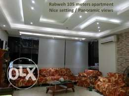 rabweh 105 sqm nicely decorated panoramic views