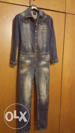 Raw Denim Jeans, long sleeves Overall خلدة -  1