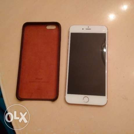 Iphone 6s Plus Rose Gold 64 GB Like New with Apple Leather Case+cover