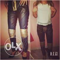 Leather pants from Italy