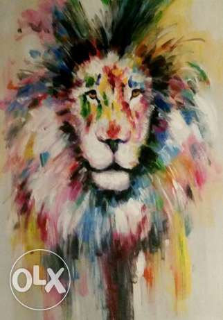 Oil Painting on Canvas/ Huile sur toile - The Lion King - 90 x 70 cm