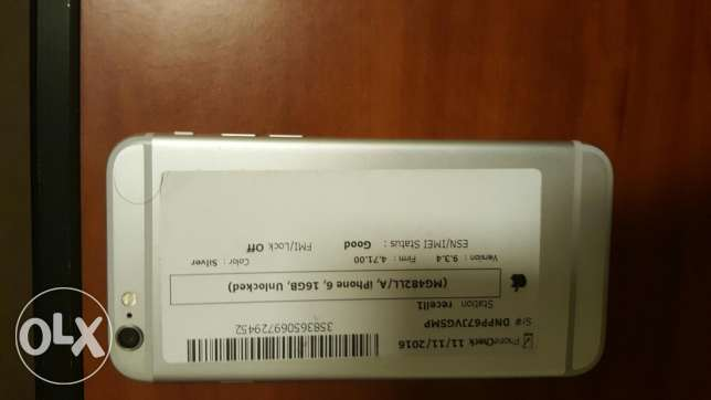 Iphone 6 16 GB المرفأ -  2