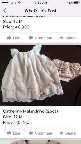 Catherine Malandrino dress(2pieces) size: 12M
