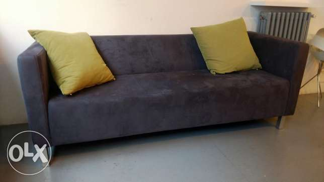2 identical suede sofas - great condition / nice material