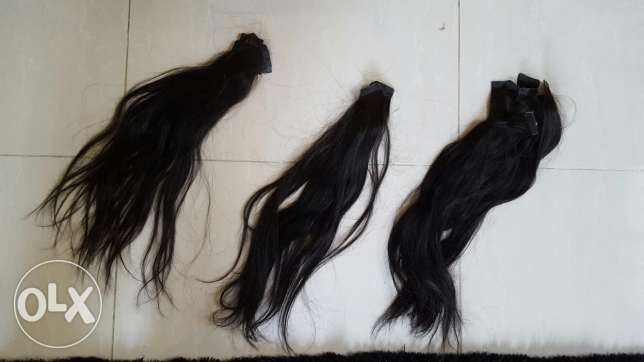 Natural hair... black... 50 pieces