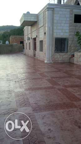 stamped and colored concrete باطون ملون و مطبع