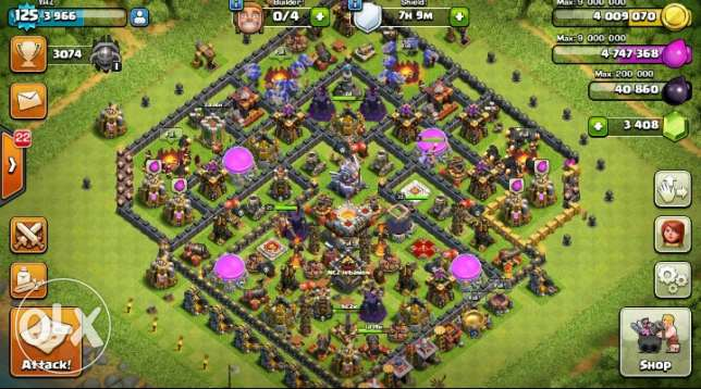 Clash of clans TH 11 super awiyee!! راس  بيروت -  1