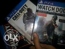 Watchdogs and BO3 and Advanced warfare for ps4