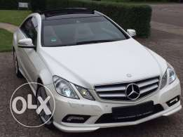 Mercedes E250 coupe AMG-LINE 2011 white on brown GERMAN
