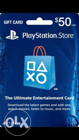 50$ gift card for ps4 only for american and uk accounts