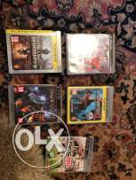2 ps3 controllers + 5 cds