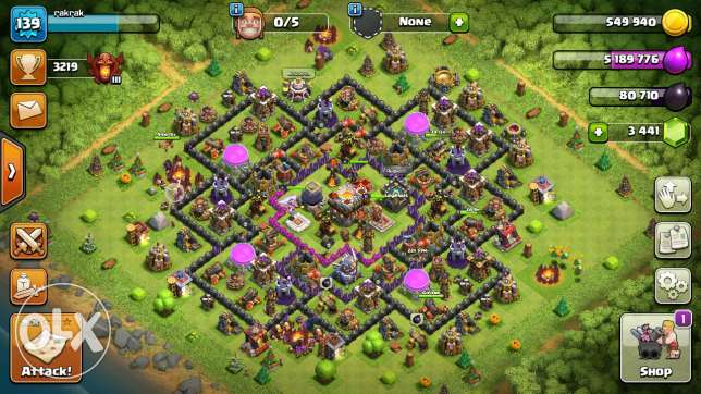 Clash of clans village for sale in great price