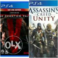 PS4 metal gear solid 5 + AC unity