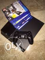 ps4 with one controller and 6 games +hdmi cable