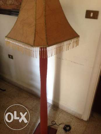 Wooden tall lamp