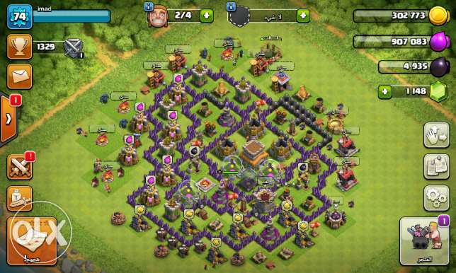 Account Clach of clans Town hall 8